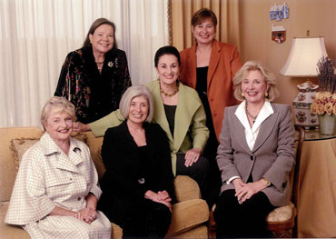 Back row (left to right): Patricia Petersen, Martha Turner and Anita Head. Front row (left to right): Lois Schneider, Shari Chase and Jenny Pruitt. Michael Saunders (not pictured) is also a member of the Brain Trust.