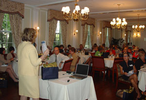Gloria Nilson GMAC President Pat Bell introduces new marketing tools to the company's top agents at a recent President's Advisory Council meeting at the Nassau Club in Princeton.