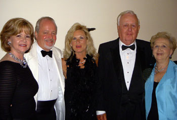 (Left to right): Ann Wallin - Member of the Magnolia Ball Committee & Harry Norman, Realtors sales associate, Ed Tate - Magnolia Ball Chair, Tammy Tate - Member of the Magnolia Ball Committee, Bill Gray - President of The Friends of Bullock, Inc. and Ann Parker - Harry Norman, Realtors Atlanta North office Managing Broker.
