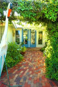 Entrance to Jimmy Buffett's Key West residence.