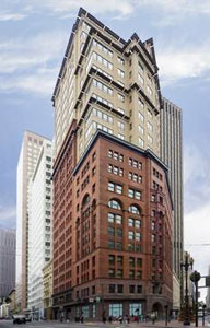 This historic, hip building in heart of downtown San Francisco offers spectacular views of Union Square and Union Bay.