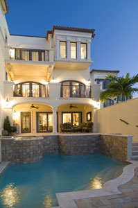 One of the homes in the new Vista Royale waterfront community in Florida.